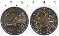 Изображение Монеты Греция 2 евро 2014 Биметалл UNC- 150  лет  Конституци
