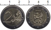 Изображение Монеты Европа Латвия 2 евро 2016 Биметалл UNC-