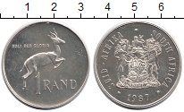 Изображение Монеты ЮАР 1 ранд 1987 Серебро UNC- Антилопа