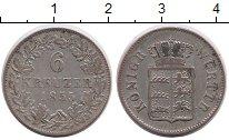 Изображение Монеты Вюртемберг 6 крейцеров 1855 Серебро VF