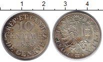 Изображение Монеты Швейцария Женева 10 сентим 1839 Серебро UNC-