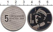 Изображение Монеты Швейцария 5 франков 1989 Медно-никель Proof- Генерал  Анри  Гюсса