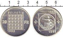 Изображение Монеты Европа Швейцария 20 франков 1998 Серебро Proof-