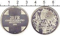 Изображение Монеты Европа Швейцария 20 франков 1994 Серебро Proof-