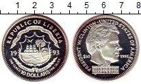 Изображение Монеты Африка Либерия 10 долларов 1993 Серебро Proof-