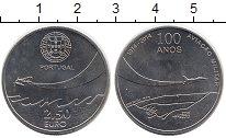 Изображение Мелочь Португалия 2 1/2 евро 2014 Медно-никель UNC 100 лет военной авиа