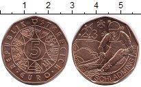 Изображение Мелочь Австрия 5 евро 2013 Медь UNC Шладминг Горнолыжник