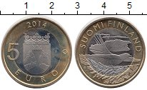 Изображение Монеты Европа Финляндия 5 евро 2014 Биметалл UNC