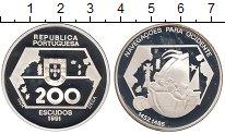 Изображение Монеты Португалия 200 эскудо 1991 Серебро Proof-