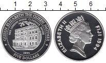 Изображение Монеты Фиджи 5 долларов 1994 Серебро Proof-