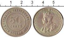 Изображение Монеты Великобритания Стрейтс-Сеттльмент 50 центов 1920 Серебро XF+
