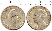 Изображение Монеты Северная Америка Куба 25 сентаво 1953 Серебро UNC-