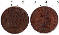 Изображение Монеты Пруссия 3 пфеннига 1852 Медь XF+