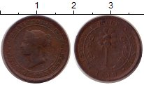 Изображение Монеты Цейлон 1/2 цента 1870 Медь VF