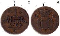 Изображение Монеты Германия Шаумбург-Гессен 1 пфенниг 1789 Медь VF