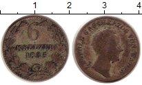 Изображение Монеты Баден 6 крейцеров 1835 Серебро VF
