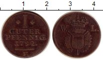 Изображение Монеты Германия Шаумбург-Гессен 1 пфенниг 1792 Медь XF-
