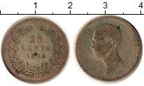 Изображение Монеты Нидерланды 25 центов 1849 Серебро VF Виллим II