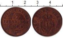 Изображение Монеты Германия Пруссия 3 пфеннига 1866 Медь XF