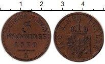 Изображение Монеты Германия Пруссия 3 пфеннига 1870 Медь XF