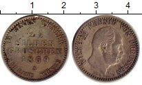 Изображение Монеты Германия Пруссия 2 1/2 гроша 1869 Серебро XF-