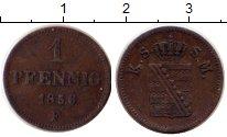 Изображение Монеты Германия Саксония 1 пфенниг 1856 Медь XF