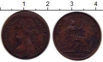 Изображение Монеты Великобритания 1 фартинг 1861 Медь XF-
