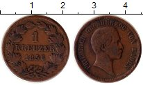 Изображение Монеты Баден 1 крейцер 1856 Медь XF-
