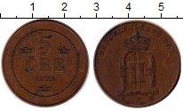 Изображение Монеты Швеция 5 эре 1905 Бронза XF