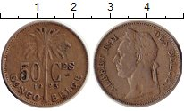 Изображение Монеты Бельгийское Конго 50 сантим 1923 Медно-никель XF Альберт I