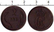 Изображение Монеты Дания 2 эре 1889 Бронза XF