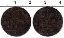 Изображение Монеты Германия Пруссия 2 пфеннига 1825 Медь XF-