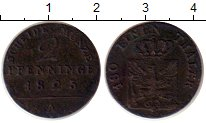 Изображение Монеты Пруссия 2 пфеннига 1825 Медь XF-