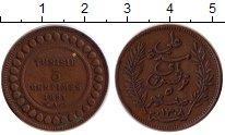 Изображение Монеты Тунис 5 сантим 1891 Бронза XF Французский протекто