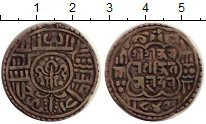 Изображение Монеты Непал 1 мохар 1722 Серебро XF- Королевство Бхатгаон