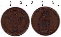 Изображение Монеты Швеция 5 эре 1878 Бронза XF