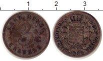 Изображение Монеты Германия Саксе-Кобург-Гота 3 крейцера 1834 Серебро VF