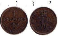 Изображение Монеты Германия Ольденбург 1 шварен 1866 Медь XF