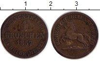 Изображение Монеты Германия Брауншвайг-Вольфенбюттель 1 грош 1857 Серебро XF-