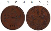 Изображение Монеты Нидерландская Индия 4 кеппинга 1804 Медь XF- о.Суматра
