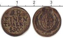 Изображение Монеты Саксония 1/48 талера 1802 Серебро VF Фридрих Август III