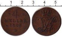 Изображение Монеты Гессен-Кассель 4 геллера 1826 Медь XF-