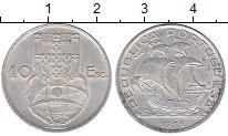 Изображение Монеты Европа Португалия 10 эскудо 1955 Серебро XF