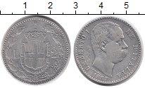 Изображение Монеты Европа Италия 2 лиры 1887 Серебро XF-