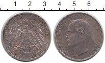Изображение Монеты Бавария 3 марки 1908 Серебро XF Отто.