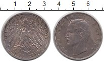 Изображение Монеты Германия Бавария 3 марки 1908 Серебро XF