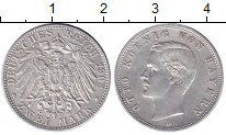 Изображение Монеты Германия Бавария 2 марки 1904 Серебро XF