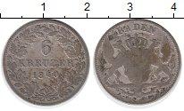 Изображение Монеты Германия Баден 6 крейцеров 1840 Серебро VF