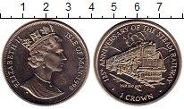 Изображение Монеты Остров Мэн 1 крона 1998 Медно-никель UNC- Елизавета II.  125 -