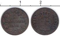Изображение Монеты Германия Вюртемберг 1 крейцер 1848 Медь XF